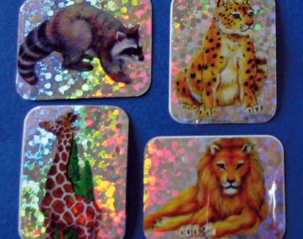 Sticker, wilde Tiere