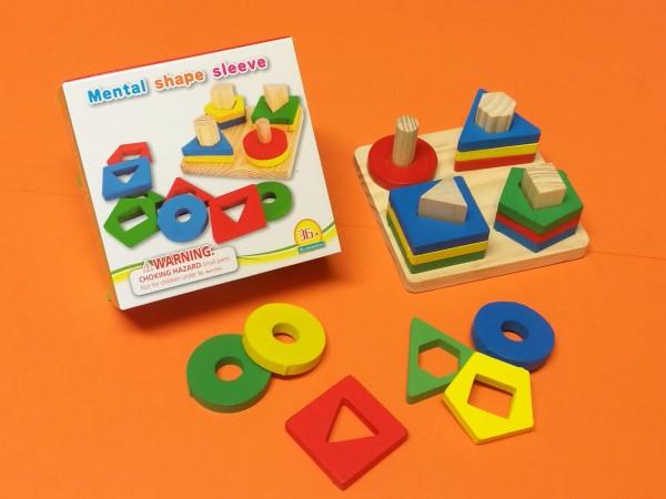 Steckspielzeug aus Holz